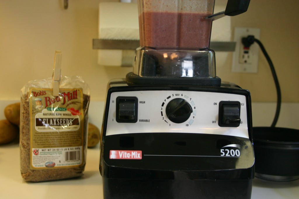 vitamix shake with flaxseeds