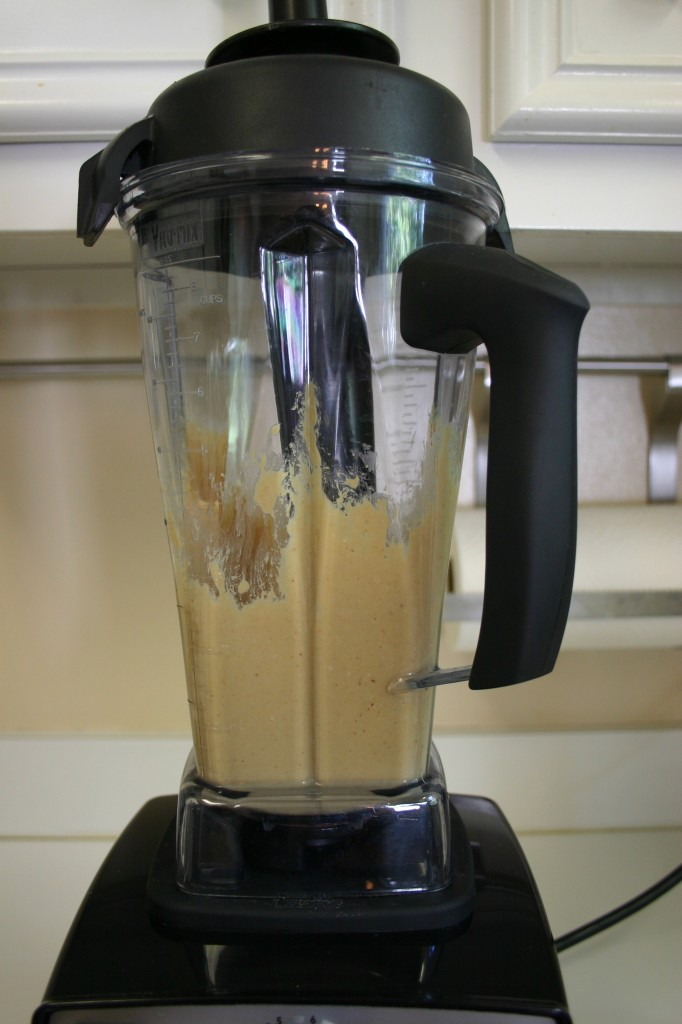 homemade peanut butter in vitamix