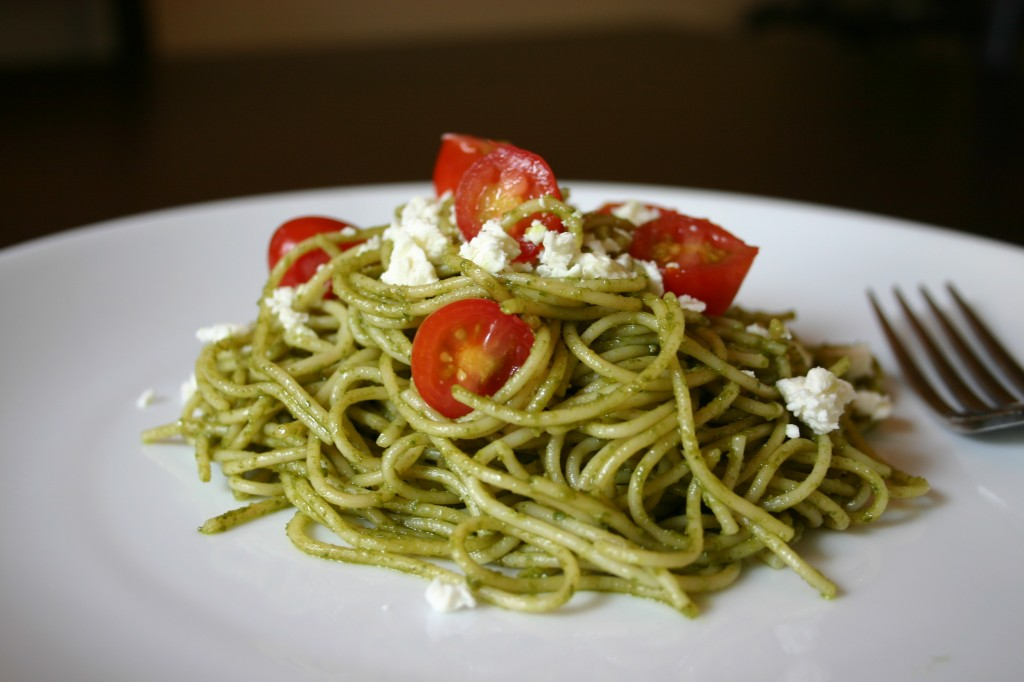 What could be better than a recipe that includes pesto and pasta?