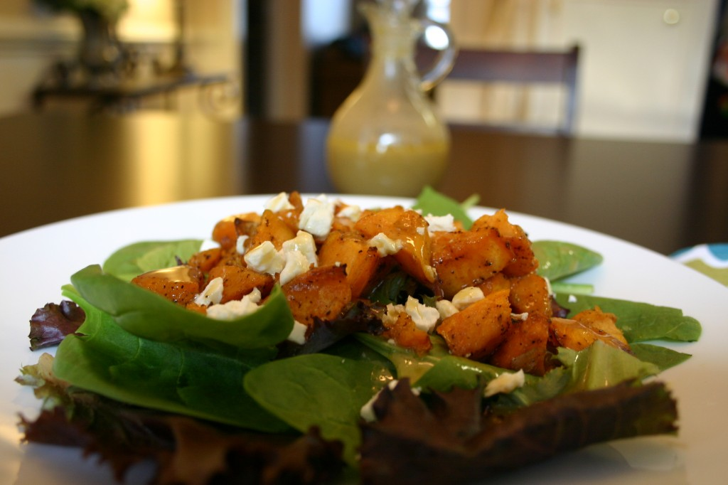 sweet potato salad closeup