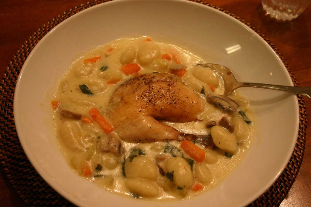 gnocchi and chicken soup
