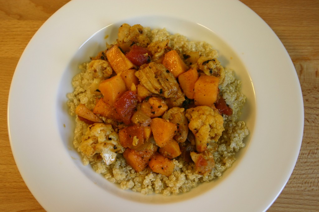 curry chicken and quinoa