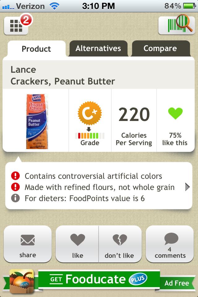 fooducate crackers