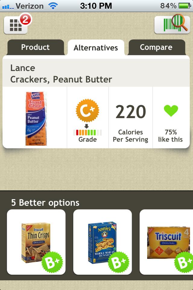 fooducate options