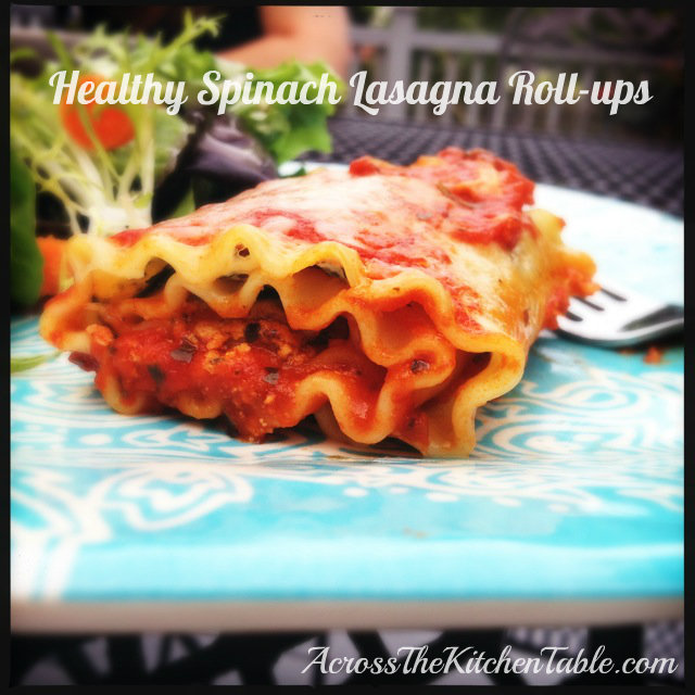 healthy spinach lasagna roll ups